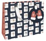 Nekupto Dárková papírová taška luxusní 18 x 16 cm Vánoční WLIS 1785