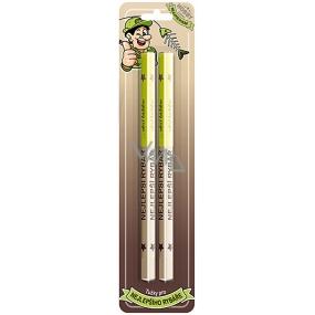 Nekupto Hobby dřevěné tužky Nejlepší rybář 2 kusy