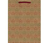 Nekupto Dárková papírová taška 24,5 x 19 x 8 cm Srdce 565 KHM