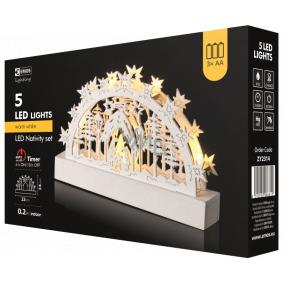 Emos Dekorace betlém 23 x 14 cm, 5 LED, teplá bílá + časovač