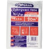 Spokar Standard Zakrývací folie HDPE - 7my 4 x 5 m
