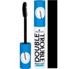 Essence Double Trouble voděodolná řasenka pro maximální délku a objem černá 12 ml