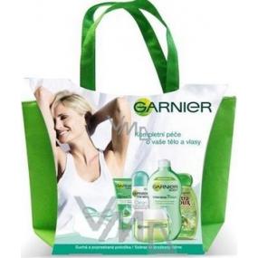 Garnier Péče o tělo a vlasy krém + deo + šampon + krém na ruce + mléko + taška, kosmetická sada