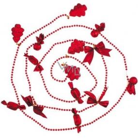 Souprava ozdob v sáčku stromeček a balíčky červené