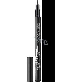 Catrice Multi Style Matt Eyeliner oční linky v peru 010 Black 1 ml