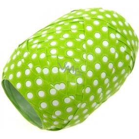 Nekupto Klubíčko Luxus zelená s bílým puntíkem 161 50 KB 10 m