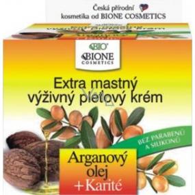 Bione Cosmetics Bio Arganový olej & Karité extra mastný výživný pleťový krém 51 ml