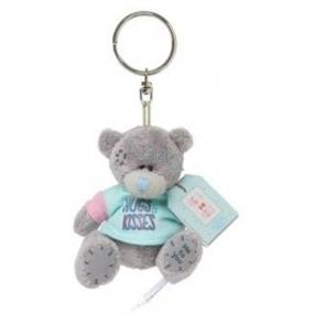 Me to You Medvídek v modrém tričku Hugs & Kisses plyšová klíčenka 7 cm