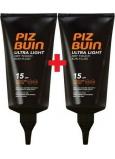 Piz Buin Ultra Light Dry Touch Sun SPF15 fluid na opalování 150 ml + Piz Buin Ultra Light Dry Touch Sun SPF15 Fluid na opalování 150 ml, duopack