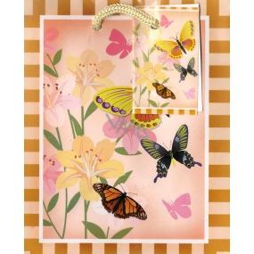 Nekupto Dárková papírová taška malá 14 x 11 x 6,5 cm motýlci 1175 01 BS