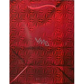 Nekupto Dárková papírová taška červená hologram standart