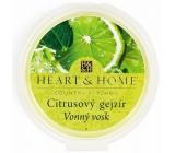 Heart & Home Citrusový gejzír Sojový přírodní vonný vosk 27 g