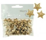 Hvězdičky s glitry 50ks zlaté, 2cm