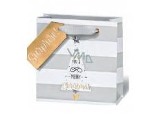 BSB Luxusní vánoční dárková papírová taška 23 x 19 x 9 cm VDT 428 - A5