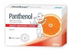 Favea Panthenol rozpustný v ústech, balzám na sliznice krku a dutiny ústní 30 tablet