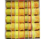 Ditipo Stuha látková s drátkem žlutá s květy 2 m x 40 mm