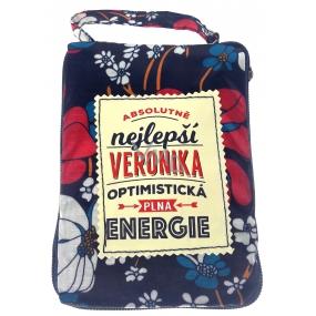 Albi Skládací taška na zip do kabelky se jménem Veronika 42 x 41 x 11 cm