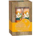 Kneipp Ranní polibek s pomerančovým květem a jojobovým olejem sprchová pěna pro ženy 200 ml + pěnové tělové mléko 200 ml, kosmetická sada