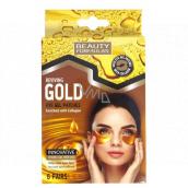 Beauty Formulas Gold zlaté gelové pásky pod oči s kolagenem 6 párů
