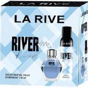 La Rive River of Love parfémovaná voda pro ženy 100 ml + deodorant sprej 150 ml, dárková sada