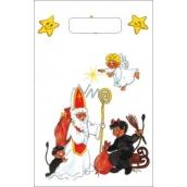 Anděl Igelitová taška malá Mikuláš, čert, anděl 32 x 20 x 8 cm