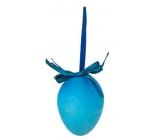 Vajíčko stříkané závěs modré 6 cm, 1 ks