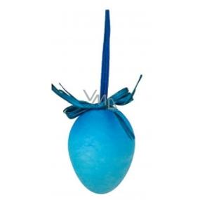 Vajíčko stříkané modré na zavěšení 6 cm, 1 kus
