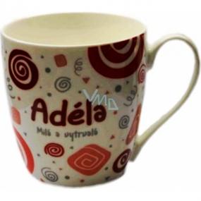 Nekupto Twister hrnek se jménem Adéla červený 0,4 litru