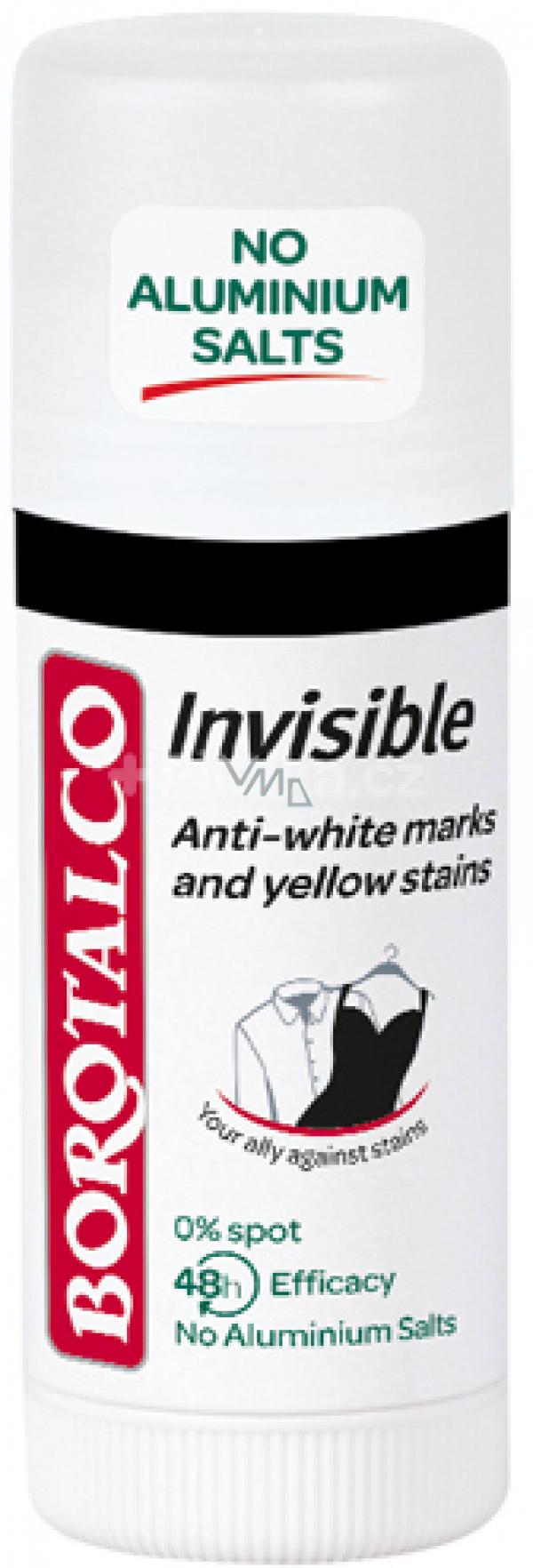 Borotalco Invisible antiperspirant deodorant stick unisex 40 ml
