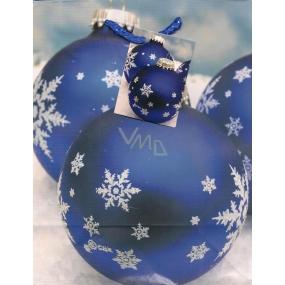 Nekupto Dárková papírová taška střední 674 40 WBM Modrá baňka 23 x 18 x 10 cm