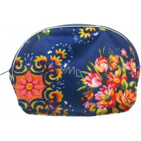 Etue Modrá s květy 10,5 x 8 x 1,5 cm 70080