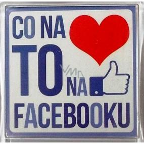 Nekupto Veselé magnetky 013 Co na srdci to na facebooku 6 x 6 cm