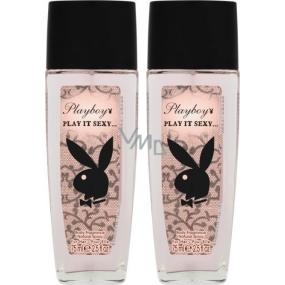 Playboy Play It Sexy parfémovaný deodorant sklo pro ženy 2x75 ml, duopack
