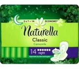 Naturella Classic Night hygienické vložky s heřmánkem 14 kusů