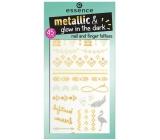 Essence Metallic & Glow In The Dark tetování na nehty a prsty 01 Let Metals Go Glow