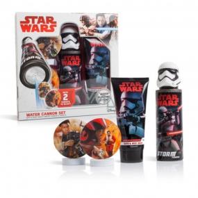 Disney Star Wars sprchový gel 150 ml + vodní pistole + terč 2 kusy dárková sada pro děti
