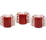 Linziclip Mini Vlasový skřipec perleťově vínový 1,75 cm vhodný pro všechny druhy vlasů 3 kusy