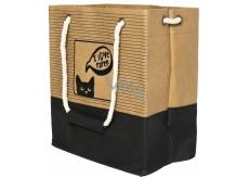 Albi Eko taška vyrobená z pratelného papíru s uchem - kočka 30 cm x 34 cm x 18 cm
