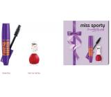 Miss Sporty Pump Up Booster extra black řasenka 12 ml + 1 Min to Shine lak na nehty 220 7 ml, kosmetická sada