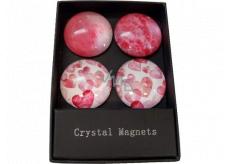 Albi Krystalové magnetky Kruhy, srdce 4 kusy