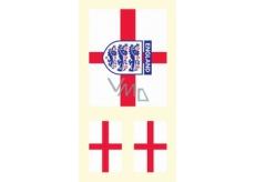 Arch Tetovací obtisky na obličej i tělo Anglie vlajka 2 motiv