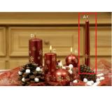 Lima Vločka svíčka vínová kužel 22 x 250 mm 1 kus
