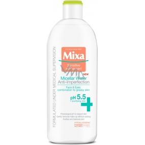 Mixa Anti-Imperfection micelární pleťová voda pro zmatnění pleti 400 ml