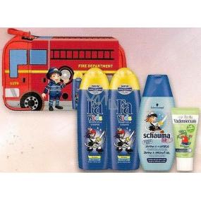 Fa Kids Pirát 2 x sprchový gel 250 ml + Schauma Kids Body šampon 250 ml + Vademecum Junior Jablko zubní pasta 50 ml + taštička set pro malé hasiče