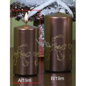 Lima Andělé trubači svíčka hnědá válec 50 x 100 mm 1 kus