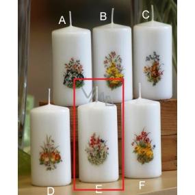 Lima Jarní motiv Ovečky svíčka bílá válec 50 x 100 mm 1 kus