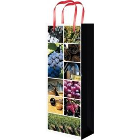 Taška celoroční na lahev F s obrázky vinařství 36 x 12 x 9 cm 01