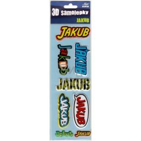 Nekupto 3D Samolepky se jménem Jakub 8 kusů 032