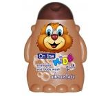 On Line Kids Čokoládová sušenka 2v1 sprchový gel a šampon na vlasy pro děti 250 ml