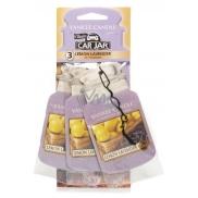 Yankee Candle Lemon Lavender - Citrón a levandule Classic vonná visačka do auta papírová sada 12 g x 3 kusy